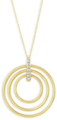 Carelle Moderne Diamond & 18K Yellow Gold Trio Pendant Necklace