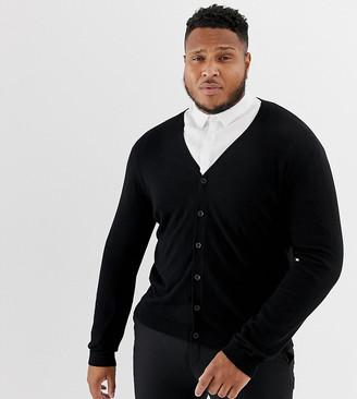 ASOS DESIGN Plus cardigan in black cotton
