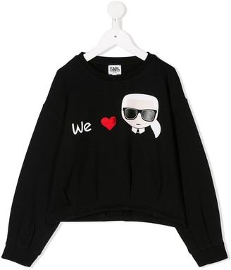 Karl Lagerfeld Paris We Love embroidered sweatshirt