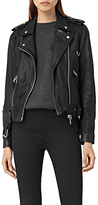 AllSaints Gidley Leather Biker Jacket, Black
