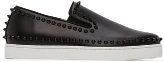 Christian Louboutin Black Pik Boat Sneakers