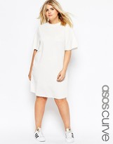 Asos Casual Dress With Raw Edges