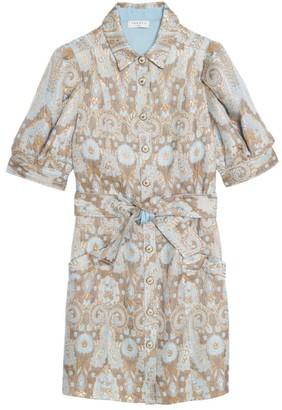 Sandro Orlan Metallic Jacquard Dress