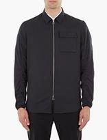 Oamc Navy Wool Aviator Shirt