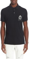 Versace Men's Embroidered Logo Pique Polo