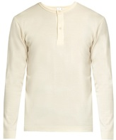 Sunspel Long-sleeved Wool Henley Top