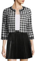Karl Lagerfeld Cropped Plaid Jacket