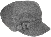 Nine West Heather Gray Buckle Wool-Blend Newsboy Cap