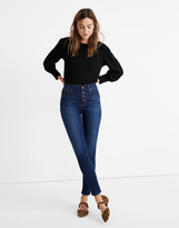 """Madewell Tall 9"""" Mid-Rise Skinny Jeans in Julie Wash: Button-Front TENCEL Denim Edition"""