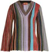 Missoni Vertical-stripe V-neck long-sleeve top