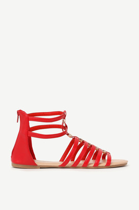 Ardene Faux Leather Gladiator Sandals