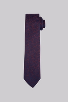 DKNY Wine And Navy Rose Skinny Tie