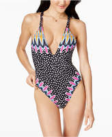 Bar III Magic Touch Printed One-Piece Swimsuit, Created for Macy's