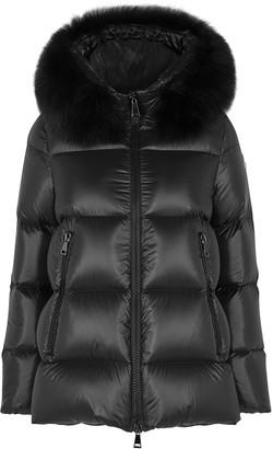 Moncler Serifur Fur-trimmed Quilted Shell Jacket
