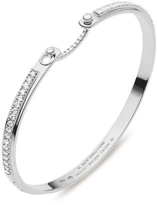 Nouvel Heritage 18kt white gold Tuxedo Mood diamond bangle