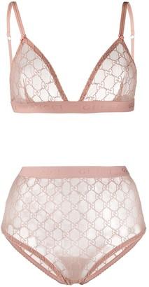 Gucci GG lace lingerie set