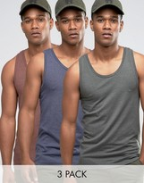 Asos Muscle Vest 3 Pack Save