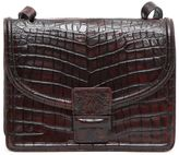 Dries Van Noten Faux Crocodile Leather Shoulder Bag