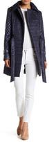Via Spiga Asymmetrical Zip Quilted Jacket