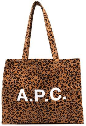A.P.C. Leopard Print Tote Bag