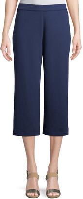 Joan Vass Petite Cropped Cotton Interlock Pants
