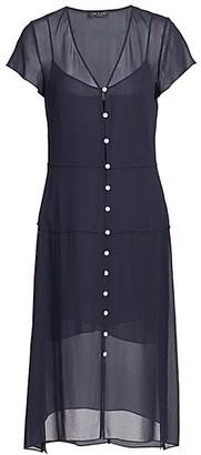 Rag & Bone McCormick Button-Front Midi Dress