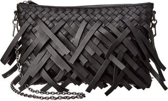 Bottega Veneta Fringe Biletto Intrecciato Leather Crossbody