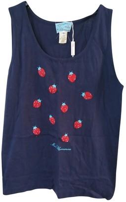 Blumarine Blue Cotton Top for Women