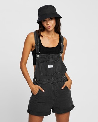 Levi's Women's Black Playsuits - Vintage Shortalls - Size XS at The Iconic