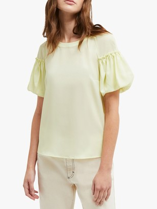 French Connection Crepe Puff Sleeve Top