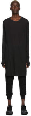 Boris Bidjan Saberi Black Dyed Long Sleeve T-Shirt