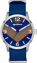 Arizona Mens Blue Strap Watch-Fmdarz527