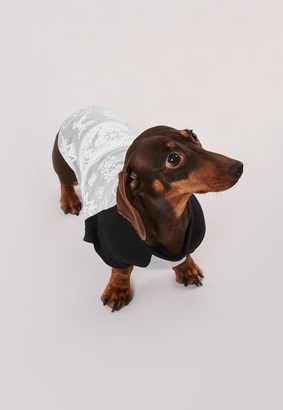 Missguided Grey Fairisle Print Dog T Shirt