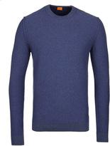 Boss Orange Amindo Denim Blue Crew Neck Sweater