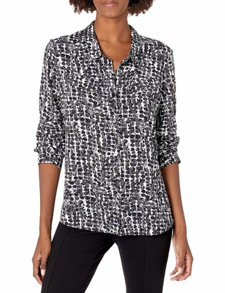 Nic+Zoe Women's Rain Dots Shirt