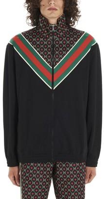 Gucci GG Star Print Zipped Jersey Jacket