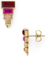 Rebecca Minkoff Stacked Baguette Earrings