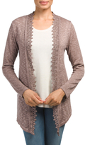 Made In Italy Cardigan With Lace Trim