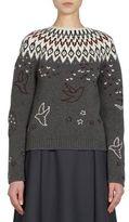 Nina Ricci Fair Isle Jacquard Knitted Sweater