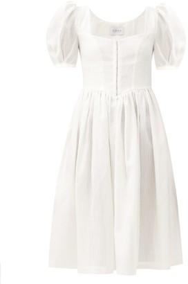 Gioia Bini Clo Cotton-blend Dress - White