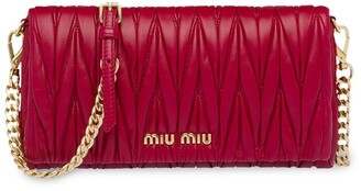 Miu Miu Matelasse Nappa Leather Mini-Bag