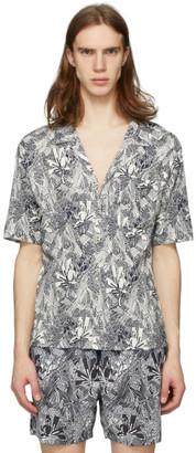 Missoni White and Black Printed Shirt