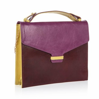 Nadia Minkoff The Fitzrovia Clutch Grape Burgundy