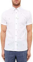 Ted Baker Embroidered Regular Fit Button-Down Shirt