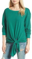 Hinge Women's Tie Front Fleece Top