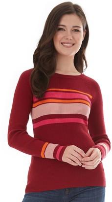 Iz Byer Juniors' Top Rib Raglan Sweater