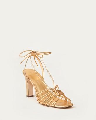 Loeffler Randall Hallie Strappy Wrap Sandal Gold