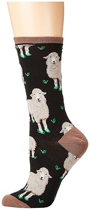 Socksmith Wool Be Friends (Black) Women's Crew Cut Socks Shoes
