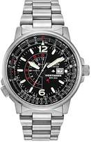 Citizen Men's Eco-Drive Promaster Nighthawk Dual Time Watch with Date