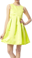 Haoduoyi Neon Green Mini Dress
